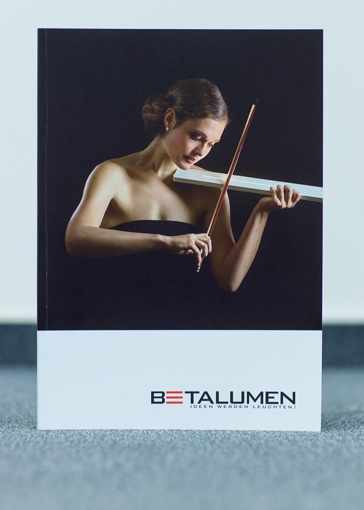 Titelmotiv für den Produktkatalog des Dresdner Sonderleuchten Herstellers BETALUMEN 2014.