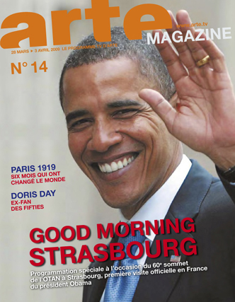 US-Präsident Barack Obama als Titelbild auf französischem ARTE-Magazin Nr.14 im März 2009.