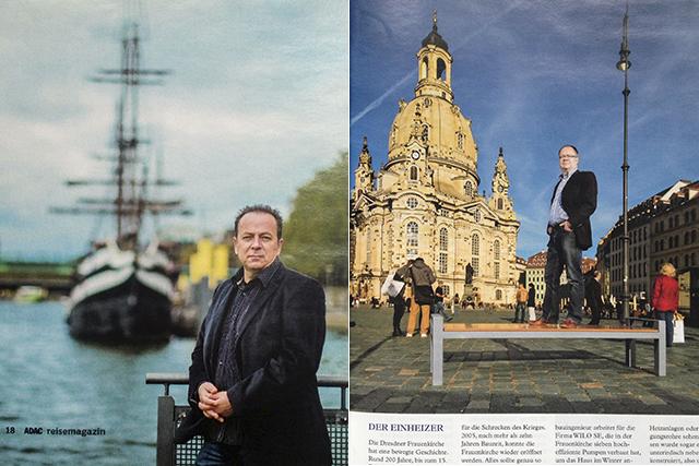 Portraits für das ADAC-Reisemagazin im Oktober ´12 in Bremen & Dresden.