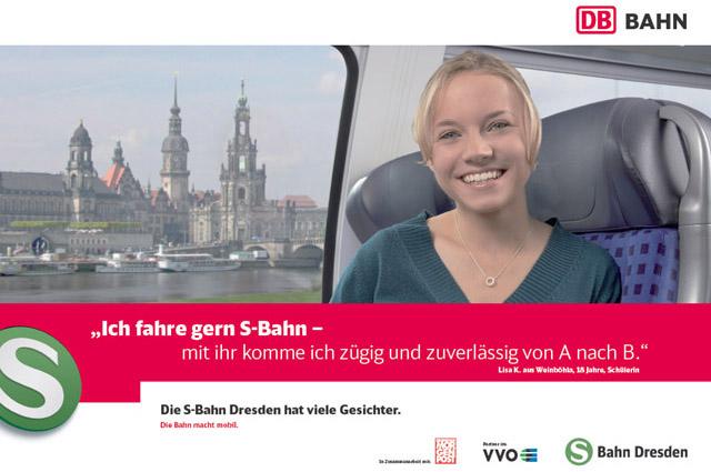 Kampagnenmotiv für DEUTSCHE BAHN im Sommer 2008.