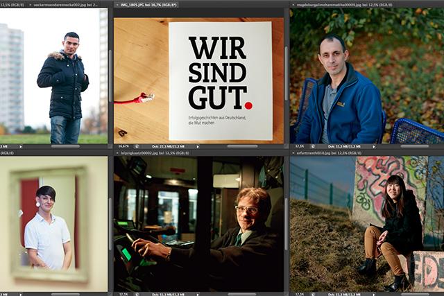 Portraits aus den neuen Bundesländern für Erfolgsbuch der Bundesagentur für Arbeit im Herbst ´12.