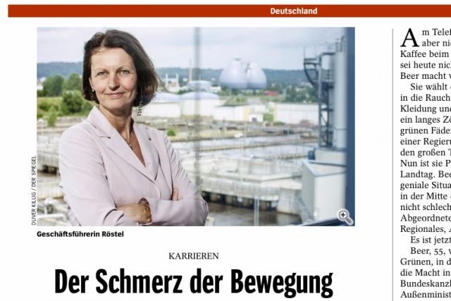 """Grünen-Politikerin und Dresdner Geschäftsführerin Gunda Röstel in """"DER SPIEGEL"""" 30/2012."""