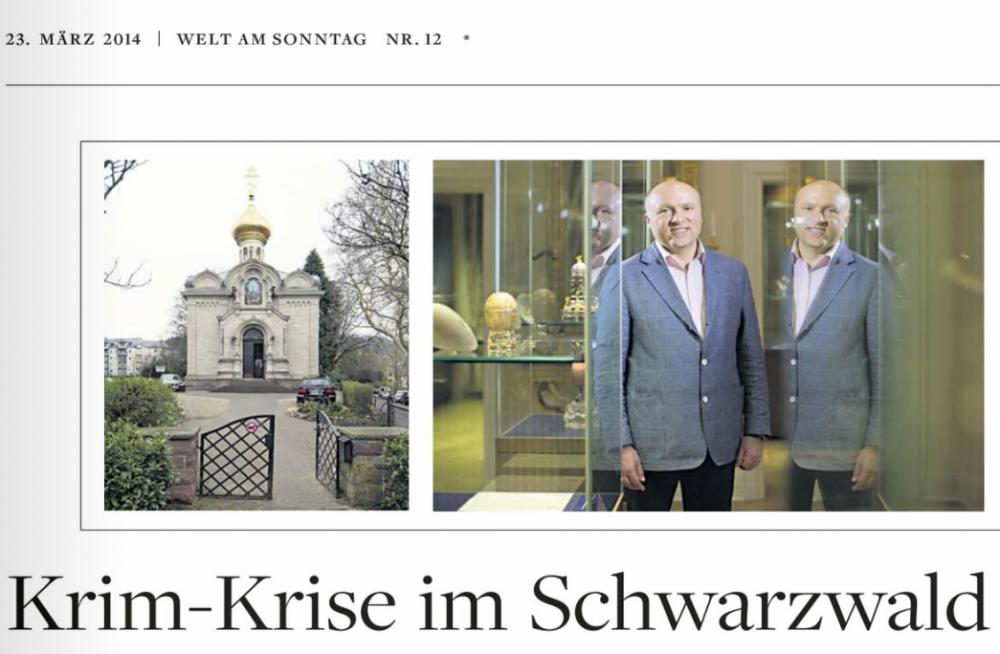 Russen in Baden-Baden. Eine Reportage im März 2014 für WELT AM SONNTAG.