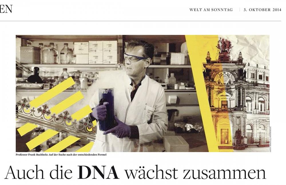 """Forscher Frank Buchholz von der Professur für Medizinische Systembiologie der TU Dresden in """"Welt am Sonntag"""" am 03.10.2014."""