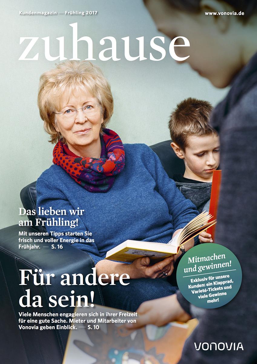 """Titelmotiv für Vonovia-Kundenmagazin """"zuhause"""" / Ausgabe Frühjahr 2017."""
