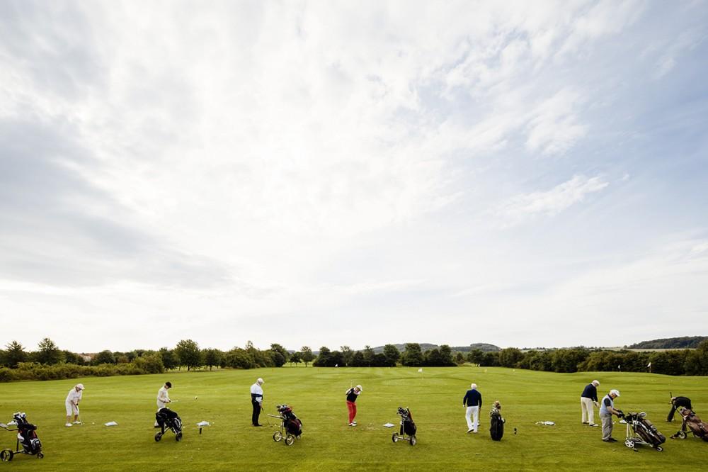 Ein Golfturnier im August 2014 auf dem Golfplatz in Ullersdorf bei Dresden.