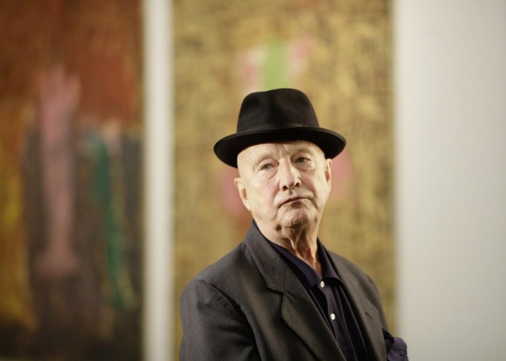 Künstler Georg Baselitz im Oktober 2010 in Dresden