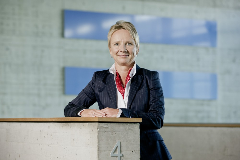 Kerstin Steidte-Megerlin, Vorstand der Dresdner Factoring AG, im September 2012 in Dresden
