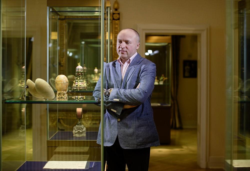 Der russische Milliardär & Kunstsammler Alexander Iwanow im März 2014 in seinem Fabergé-Museum in Baden-Baden.