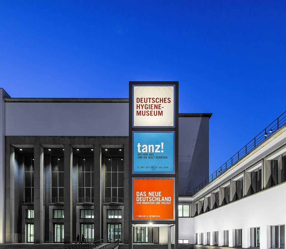 Aussenansicht vom Deutschen Hygiene-Museum in Dresden am 13.03.2014.