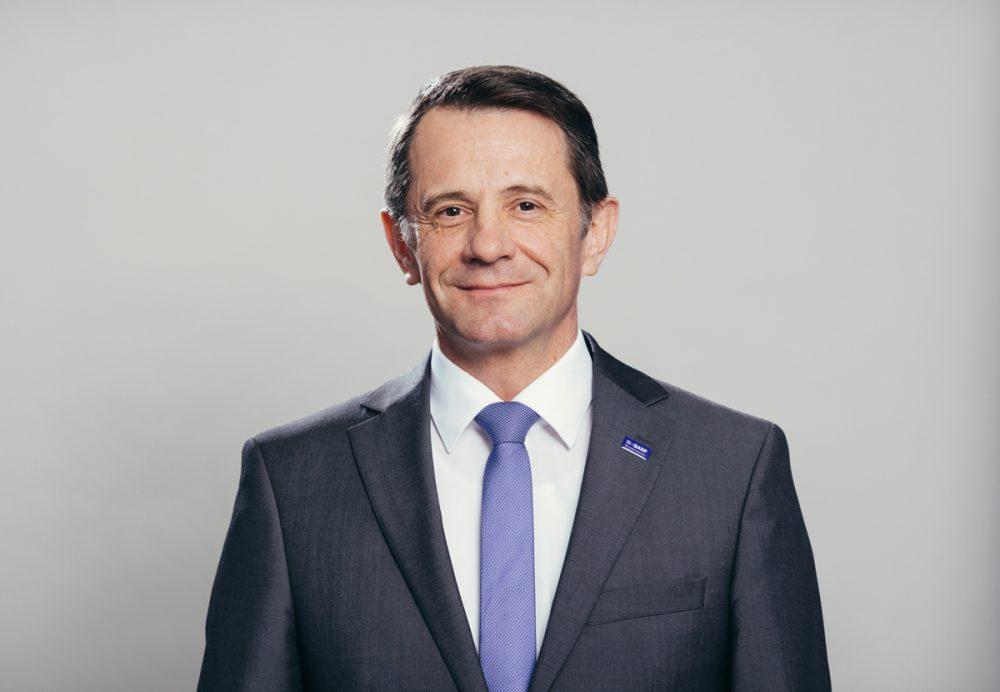 BASF-CEO Jürgen Fuchs im März 2017 in Schwarzheide / Brandenburg.