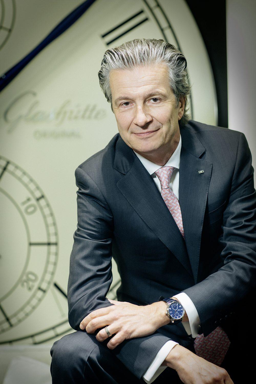 """Thomas Meier , CEO des Uhrenherstellers """"Glashütte Original"""", im Oktober 2016 in Dresden."""