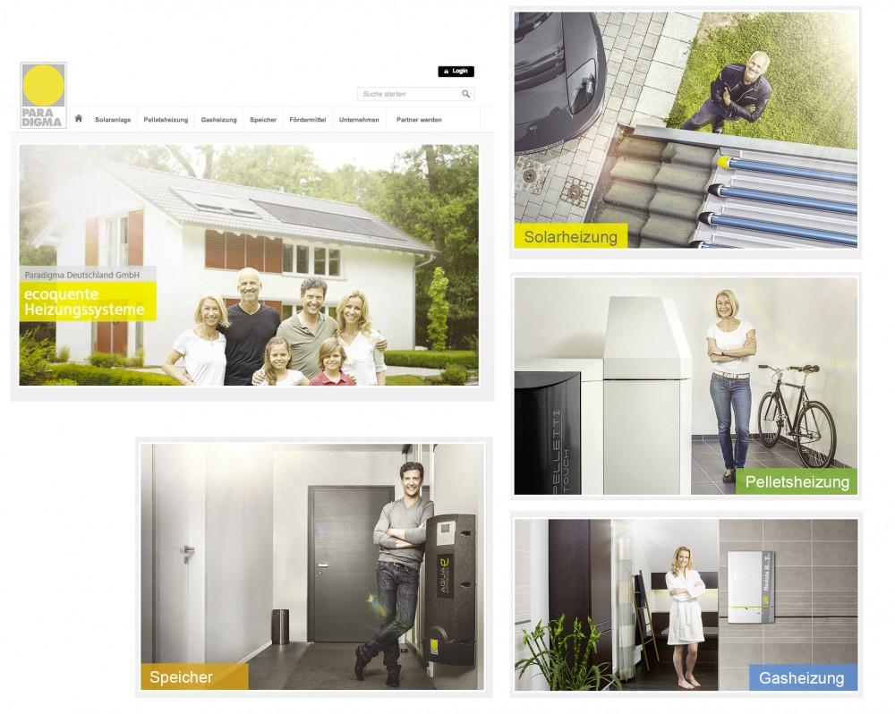 Image-Motive für neue Kampagne (Print, Web, ...) von PARADIGMA Deutschland, einem Premium-Hersteller ökologischer Heizungssysteme, fotografiert im Mai 2014 in Rheinau/Baden-Württemberg.