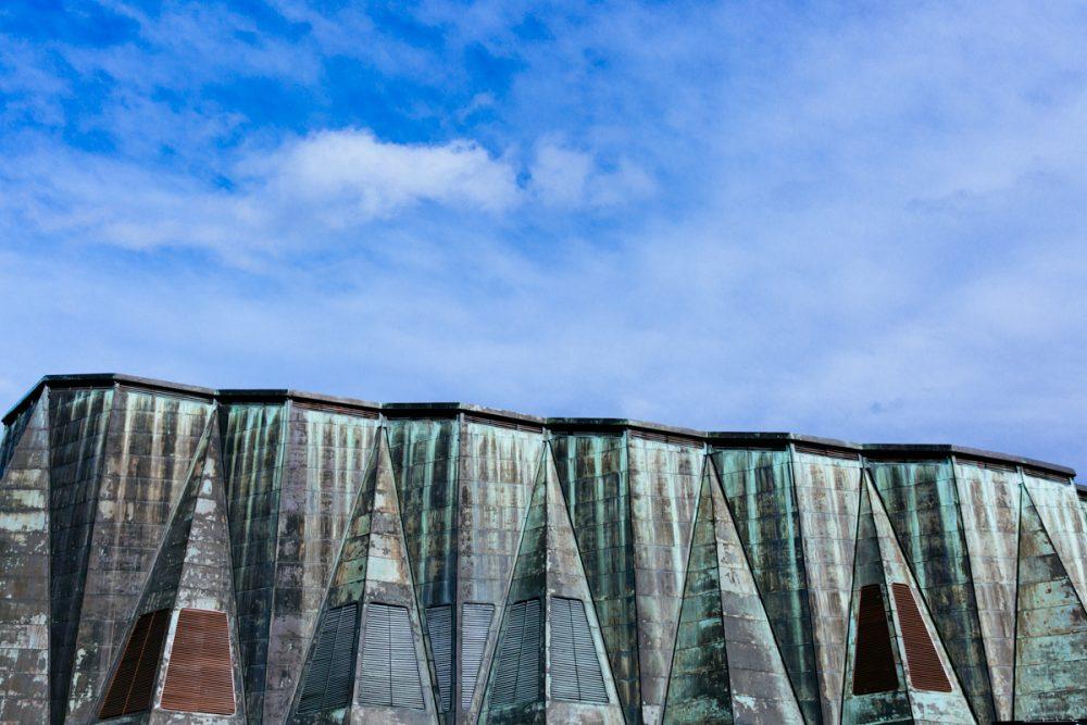 Das Dach des Dresdner Kulturpalast im Februar 2017.