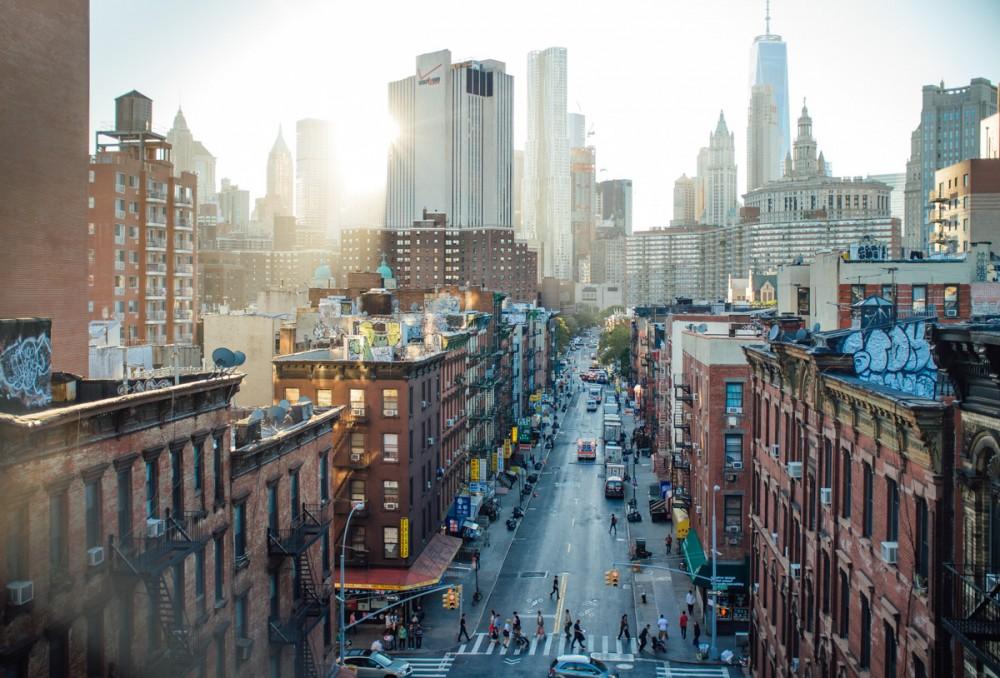 Blick in eine Strassenszene in Chinatown im Oktober 2015 in Manhattan/NYC.