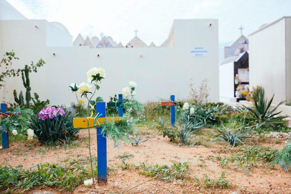 Fluechtlingsgraeber in Sizilien